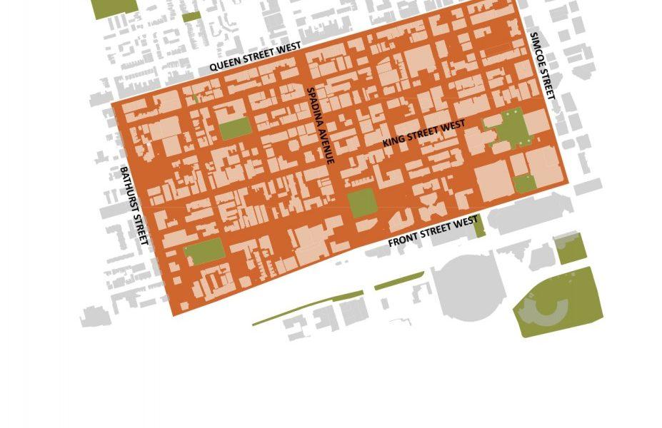 Map of King-Spadina Study Area (Source: R.E. Millward + Associates)
