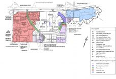 Land Use Designation in Progress Employment District-East (Source: By-law 24982, annotated by R. E. Millward + Associates)