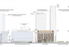 Neighborhood Height Transition, South Elevation (Source: Moriyama & Teshima Architects and Acton Ostry Architects)